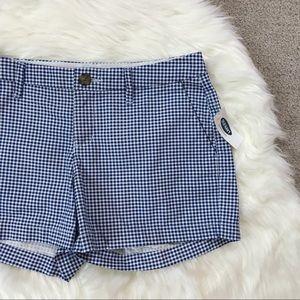 NWT Gingham Shorts